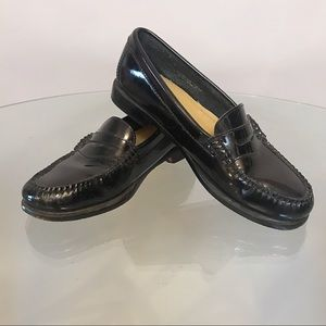Black Patent Leather Weejans Penny Loafers